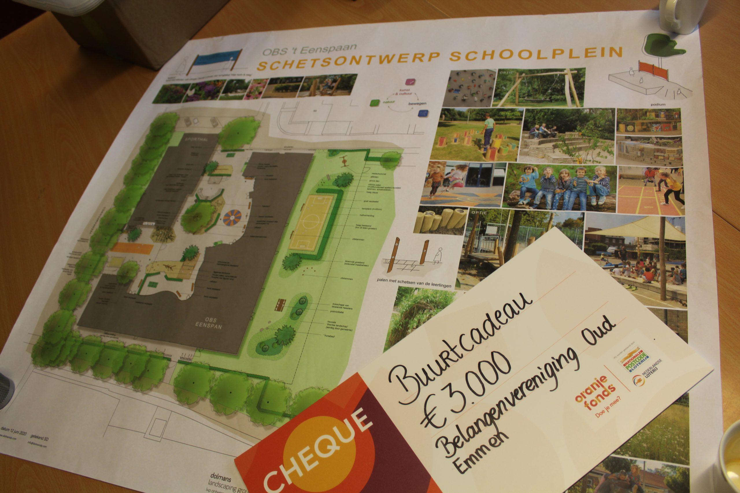 sponsoring nieuw schoolplein obs 't eenspan